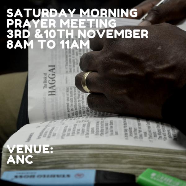 Saturday Morning Prayer Meeting